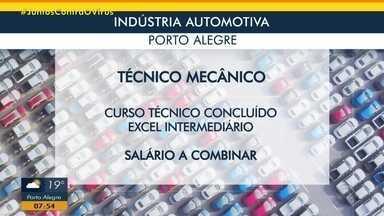 Indústria automotiva tem vagas abertas em Porto Alegre - Assista ao vídeo.