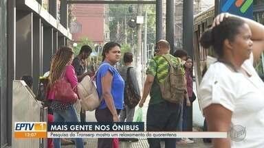 Pesquisa da Transerp mostra alta no número de passageiros nos ônibus em Ribeirão Preto - Aumento foi de 28% em relação ao início da quarentena.
