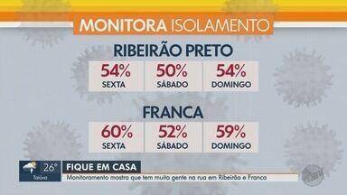 Monitoramento mostra que mais pessoas estão fora de casa em Ribeirão Preto e Franca - Cidades apresentaram índice abaixo do esperado, que é 70% de isolamento social.