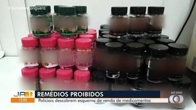Polícia encontra remédios falsificados para emagrecer - Produtos não tinham autorização da Anvisa. Material foi recolhido.