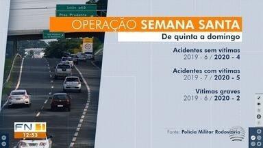 Operação Semana Santa tem redução de acidentes e vítimas no Oeste Paulista - Foram quatro dias de fiscalização em mais de 1.344 quilômetros de rodovias.