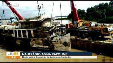 Navio que naufragou no Amapá é trazido para Santarém - Navio que naufragou no Amapá é trazido para Santarém
