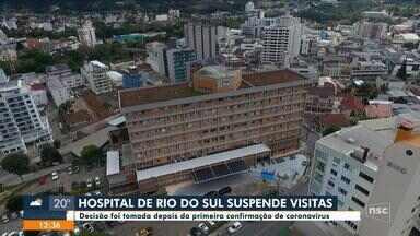 Hospital de Rio do Sul suspende visitas após confirmar primeiro caso de coronavírus - Hospital de Rio do Sul suspende visitas após confirmar primeiro caso de coronavírus