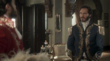 Avilez exige que Thomas atente contra a vida de Pedro - Thomas tenta fugir do assunto, mas Avilez é incisivo