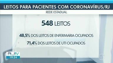 Numero de leitos ocupados está cada vez maior no Estado do Rio - Técnica em enfermagem que testou positivo para a doença teve que ser transferida para o Hospital Regional Zilda Arns, em Volta Redonda.