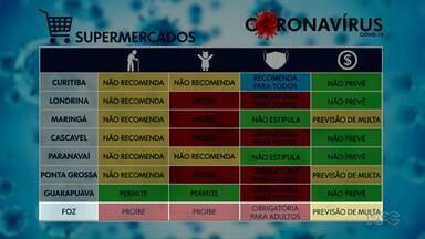 Cidades paranaenses tem restrições de circulação diferentes - A circulação de idosos também tem regras distintas entre as cidades.