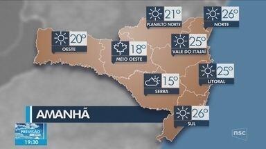 Veja como ficará o tempo em todas as regiões de SC nesta quarta (15) - Veja como ficará o tempo em todas as regiões de SC nesta quarta (15)
