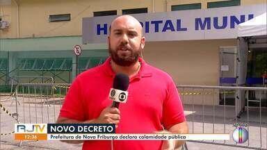 Prefeitura de Nova Friburgo, RJ, decreta estado de calamidade pública - Decreto foi feito nesta terça-feira (14).