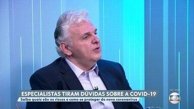 Médico fala sobre preparação de hospitais para pico de casos de coronavírus - O infectologista Paulo Abrão fala sobre a preparação de hospitais para receber pacientes da Covid-19.