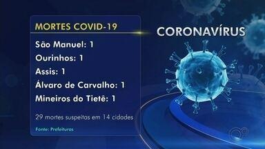 Bauru confirma a quinta morte por Covid-19. Confira o balanço da região - Bauru registrou mais uma morte, totalizando 5, e mais 13 casos de coronavírus. Avaí registrou o primeiro caso.
