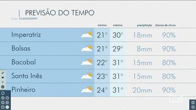 Veja as variações das temperaturas no Maranhão - Confira a previsão do tempo nesta segunda-feira (20) em São Luís e também no interior do estado.