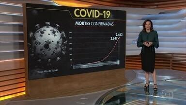 Brasil registra quase 2,5 mil mortes pelo novo coronavírus; são 39,1 mil casos confirmados - Nas últimas 24 horas, foram 115 mortes confirmadas pelo Ministério da Saúde nas últimas 24 horas. A maioria dos óbitos foram no estado de São Paulo.