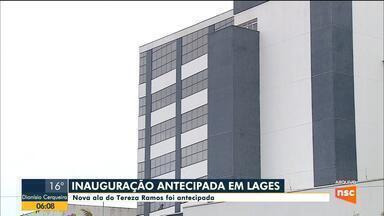 Nova ala do Hospital Tereza Ramos é inaugurada em Lages - Nova ala do Hospital Tereza Ramos é inaugurada em Lages