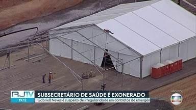 Ex-subsecretário de Saúde do Estado é exonerado por suspeita de irregularidades - Gabriell Neves já havia sido afastado do cargo após denúncias exibidas no RJ2 sobre supostas irregularidades em contratos emergenciais para construção de hospitais de campanha no combate à Covid-19