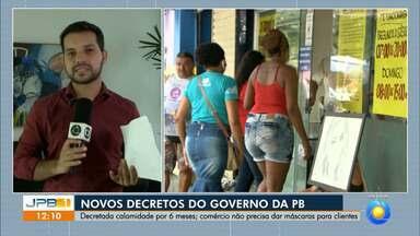 Governo da Paraíba publica novos decretos e prorroga estado de calamidade por seis meses - Detran também mudou funcionamento de alguns serviços.
