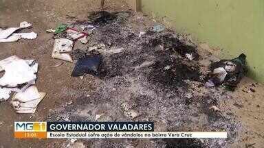 Escola estadual de Governador Valadares é alvo de vandalismo - Instituição de ensino no bairro Vera Cruz foi invadida e sofreu depredações.