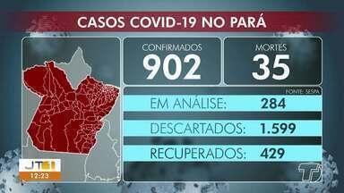 Acompanhe os números de casos confirmados no Pará - Em Santarém, são 29 casos confirmados e 5 mortes.
