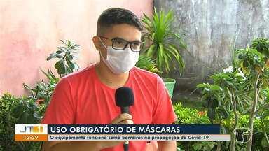 Decreto que obriga santarenos a usar máscaras nas ruas começa a valer - Aprenda a maneira correta de usar o assessório.