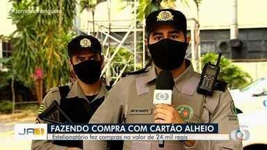 Homem é preso suspeito de fazer compras com cartão clonado, em Goiânia - Ele foi autuado por estelionato.