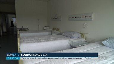 RPC divulga empresas que estão sendo solidárias durante a pandemia - Nome das empresas será divulgado no Boa Noite Paraná enquanto durar a pandemia