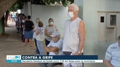 SES envia 118 mil doses de vacina contra a gripe para os municípios - SES envia 118 mil doses de vacina contra a gripe para os municípios