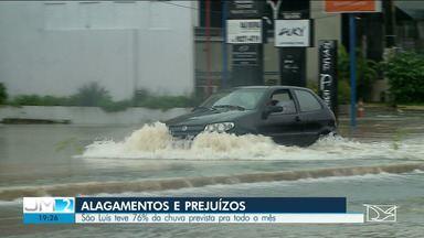 São Luís registra 76% da chuva prevista para o mês de abril em três horas - A chuva que caiu nesta terça-feira (21) deixou a cidade inteira debaixo d'água.