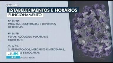 Decreto estadual determina horário de funcionamento de estabelecimentos no Pará - Decreto estadual determina horário de funcionamento de estabelecimentos no Pará