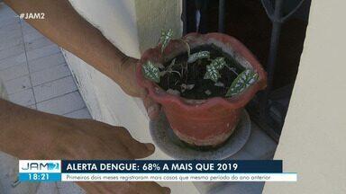 Manaus tem 68% mais casos de dengue do que o registrado em 2019 - Primeiros dois meses registraram mais casos que mesmo período do ano anterior