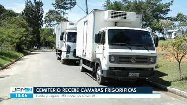 Cemitério de Manaus recebe câmaras frigoríficas - Estado já registra 193 mortes por Covid-19