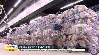 Prefeitura de Belo Horizonte alerta sobre mensagens falsas sobre entrega de cestas básicas - Cerca de 200 mil cestas básicas já foram entregues para famílias de estudantes da re pública municipal e pessoas em situação de risco social, em Belo Horizonte