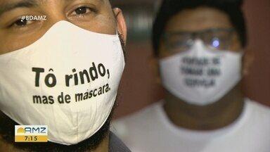 Empreendedores apostam na venda de máscaras personalizadas - Produto diferenciado tem atraído clientes.