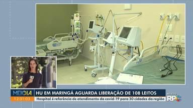 Hospital Universitário de Maringá aguarda liberação de 108 leitos - Hospital é referência de atendimento da Covid-19 para 30 cidades da região.