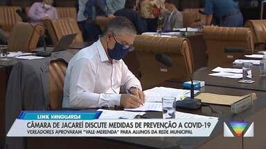 Câmara de Jacareí discute medidas de prevenção à Covid-19 - Vereadores aprovaram 'vale-merenda' para alunos da rede municipal.