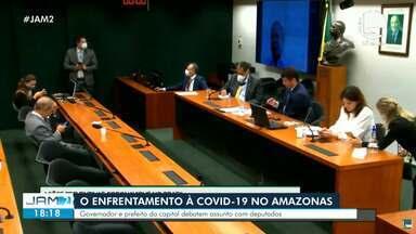 Câmara debate o enfrentamento à Covid-19 no Amazonas - Governador e prefeito da capital debatem assuntos com deputados