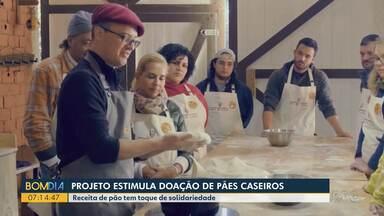 Projeto estimula doação de pães caseiros - Receita de pão tem toque de solidariedade.