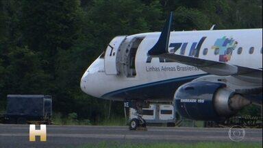 Serviço público de saúde de Belém está saturado - Passageiros de um avião vindo de Manaus foram impedidos de desembarcar