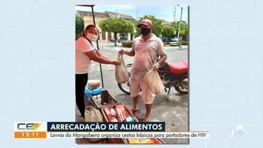 Portadores de HIV recebem doações com cestas básicas - Saiba mais em: g1.com.br/ce