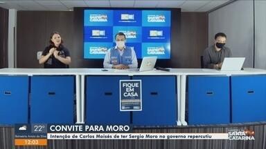 Intenção de Governador de SC em convidar Sergio Moro repercute - Intenção de Governador de SC em convidar Sergio Moro repercute