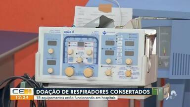 Respiradores consertados voltam a ser usados em hospitais - Saiba mais em: g1.com.br/ce