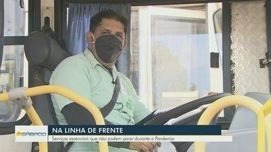 Profissionais dos serviços essenciais redobram cuidados durante a pandemia - Profissionais dos serviços essenciais redobram cuidados durante a pandemia.