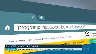 """Veja como participar da campanha """"Juntos Pelo Bem"""" - Plataforma da RPC une quem quer ajudar e quem precisa de ajuda."""