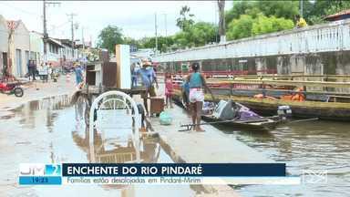 Nível do Rio Pindaré sobre e desabriga famílias em Pindaré-Mirim - O nível da água subiu rapidamente nos últimos dias.
