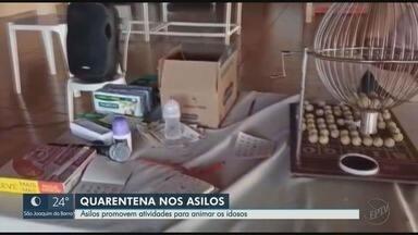 Asilos promovem atividades para animar idosos durante a quarentena em Ribeirão Preto - Bingos têm feito a alegria das casas de repouso.