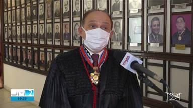Desembargador Lourival Serejo toma posse como presidente no Tribunal de Justiça - Cerimônia foi realizada por videoconferência.