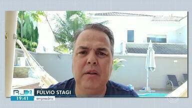 Paciente curado da Covid-19 em Resende trabalha na conscientização das pessoas - Fulvio Stagi, enfrentou os riscos do novo coronavírus, mas venceu a doença e agora ajuda outras pessoas.