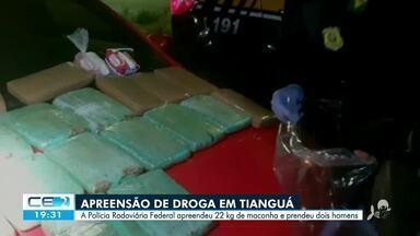 Polícia Rodoviária Federal apreende 22 kg de maconha e 2 homens são presos - Saiba mais no g1.com.br/ce
