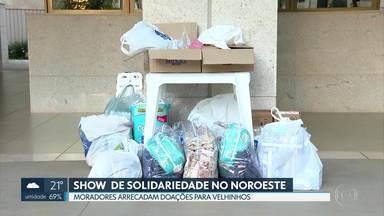 Noroeste tem show de solidariedade - Campanha arrecada doações entre moradores da quadra para velhinhos do Lar Maria Madalena, do Núcleo Bandeirante