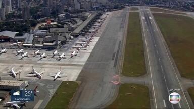 Congonhas registrou queda de 98% nos voos durante pandemia - Em 4 dias de abril, o aeroporto não registrou nenhum pouso ou decolagem.