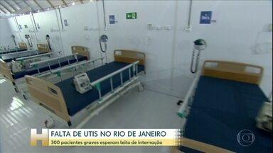 Coronavírus: No Rio de Janeiro, é crítica a falta de leitos exclusivos para UTI - Outra situação complicada é a saúde dos profissionais de saúde. Pelo menos três profissionais pertenciam ao grupo de risco. Desde a última quarta-feira (22) foram cinco mortes.