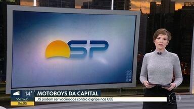 Vacinação contra a gripe para motoboys - Entregadores já podem ser vacinados nas UBS